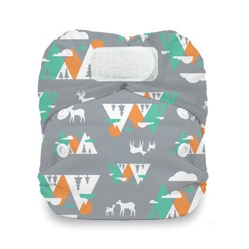 Thirsties Snap All-In-One Cloth Diaper, Mountain Range - Newborn