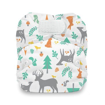 Thirsties Snap All-In-One Cloth Diaper, Woodland - Newborn