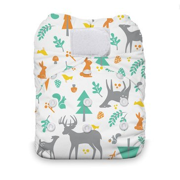 Thirsties Snap All-In-One Cloth Diaper, Woodland