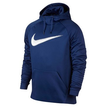 Nike Men's Therma Royal Blue Swoops Pull Over Hoodie