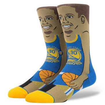 Stance Men's Stephen Curry 200 Needle NBA Socks Large