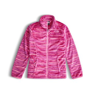 The North Face Big Girls' Osolita Fleece Jacket , Roxbury Pink Wave Stripe