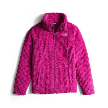 The North Face Big Girls' Laurel Fleece Jacket, Roxbury Pink