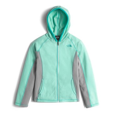 The North Face Big Girls' Glacier Full Zip Hoodie, Ice Green
