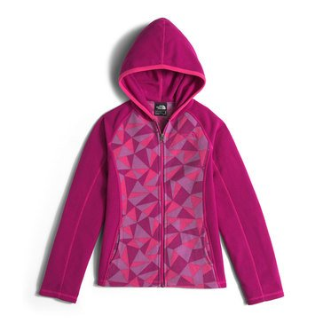 The North Face Big Girls' Glacier Full Zip Hoodie, Roxbury Pink Triangle Camo