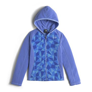 The North Face Big Girls' Glacier Full Zip Hoodie, Grapemist Blue Triangle Camo