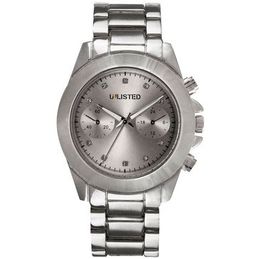 Unlisted Women's Silvertone Bracelet Watch 39mm