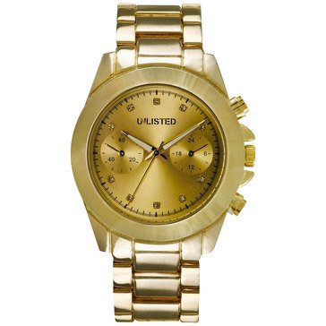 Unlisted Women's Goldtone Bracelet Watch 39mm