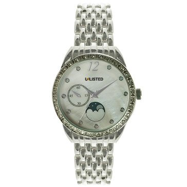 Unlisted Women's Silvertone Bracelet Watch 40mm