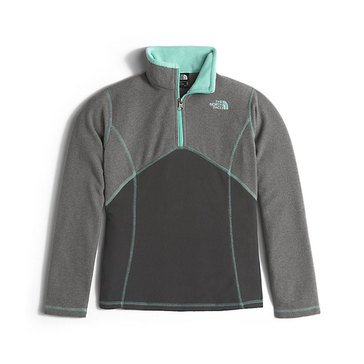 The North Face Big Girls' Glacier 1/4 Zip Fleece, TNF Medium Grey Heather