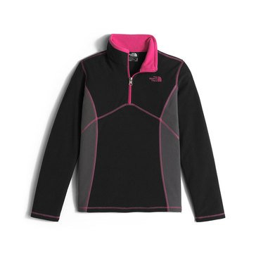 The North Face Big Girls' Glacier 1/4 Zip Fleece, TNF Black