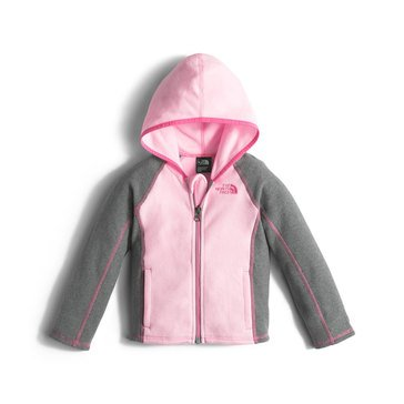 The North Face Toddler Girls' Glacier Full Zip Hoodie, Coy Pink