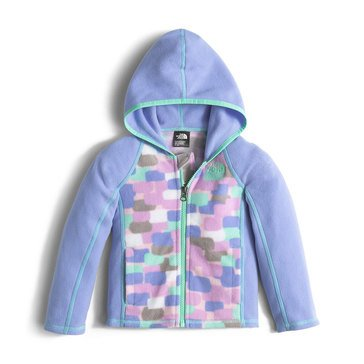 The North Face Toddler Girls' Glacier Full Zip Hoodie, Grapemist Blue Block Print