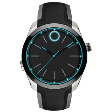 Movado Bold Men's Smart Motion Silicone Strap Watch 44mm