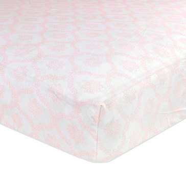 Just Born Fitted Crib Sheet, Trellis Pink