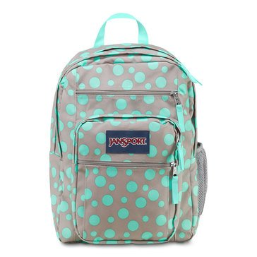 Jansport Big Student Backpack - Grey Rabbit/Silvia Dot