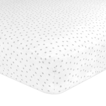 Just Born Gramercy Dot Fitted Crib Sheet, Gray