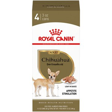 Royal Canin Chihuahua 4-Pack Wet Dog Food, 3 oz.