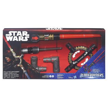 Star Wars Blade Builders Spin-Action Lightsaber