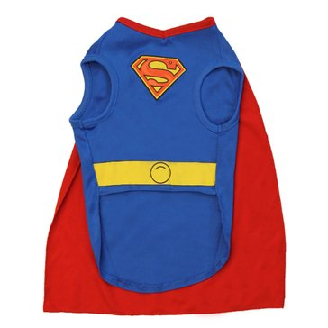 Superman With Cape Dog Costume, Small