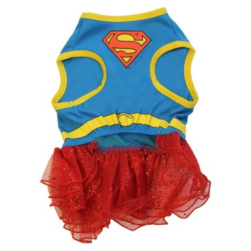 Super Girl Dog Costume, Small