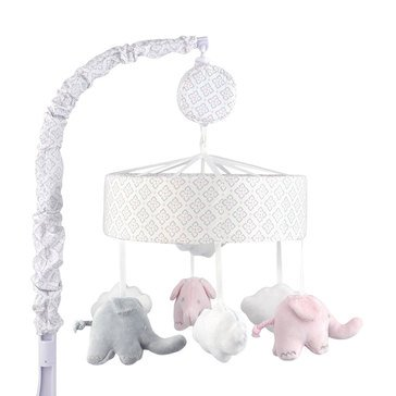 Just Born Elephants Musical Mobile, Pink & Gray