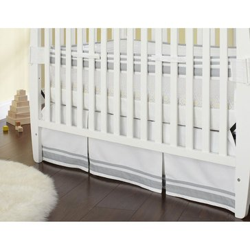 Just Born Crib Skirt, Gray