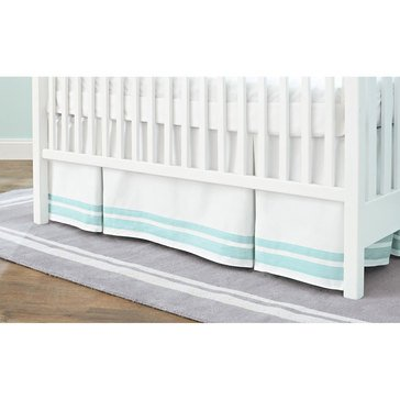 Just Born Crib Skirt, Aqua