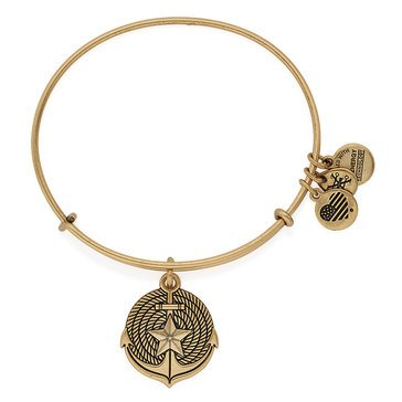 Alex and Ani Anchor Expandable Bangle, Gold Finish