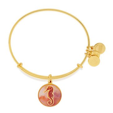 Alex and Ani Seahorse Color Infusion Expandable Bangle, Gold Finish