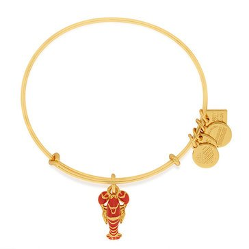 Alex and Ani Charity By Design Lobster Expandable Bangle, Gold Finish