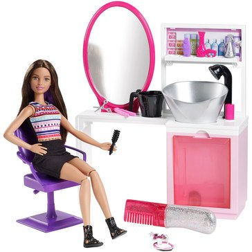 Barbie Sparkle Style Salon and Doll