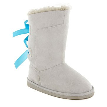 Triple T Northside Tia Girl's Suede Boot- Gray/Aqua