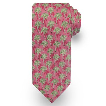 American Lifestyles Coastal Palm Tree Tie - Pink
