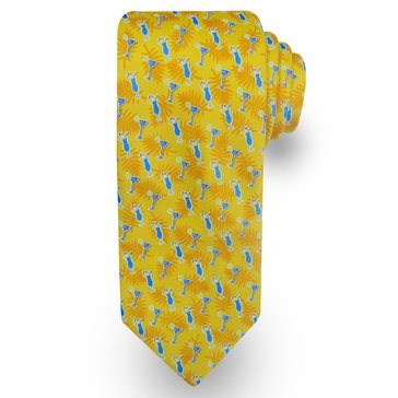 American Lifestyles Coastal Tropical Drinks Tie- Yellow