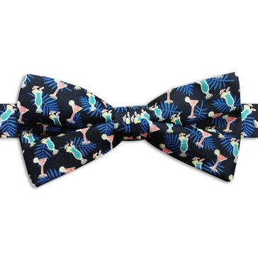 American Lifestyles Coastal Tropical Drinks Bow Tie- Navy