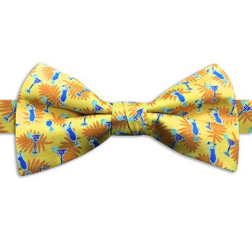American Lifestyles Coastal Tropical Drinks Bow Tie- Yellow