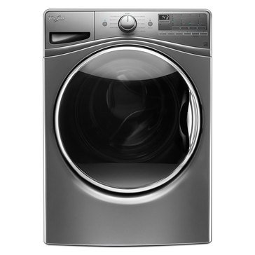 Whirlpool 4.5-Cu.Ft. Front Load Washer w/ 12 Hour FanFresh, Chrome Shadow (WFW90HEFC)