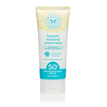 The Honest Company SPF 50+ Mineral Sunscreen 3oz