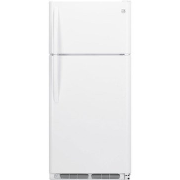Kenmore 18-Cu.Ft. Top-Freezer Refrigerator w/ Glass Shelves, White (46-60502)