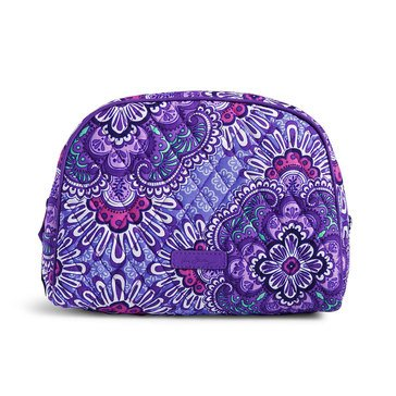 Vera Bradley Large Zip Cosmetic Lilac Tapestry
