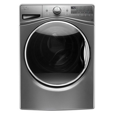 Whirlpool 4.2-Cu.Ft. Front Load Washer w/ Closet Depth Fit, Chrome Shadow (WFW9290FC)