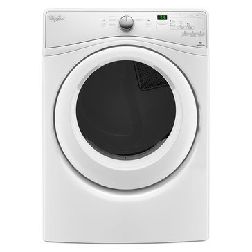 Whirlpool 7.4-Cu.Ft. Duet Electric Washer w/ Wrinkle Shield, White (WED7590FW)