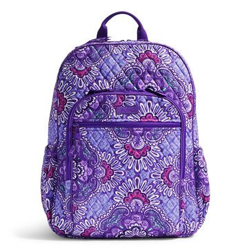 Vera Bradley Campus Tech Backpack Lilac Tapestry