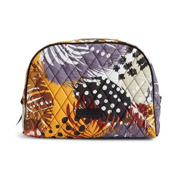 Vera Bradley Large Zip Cosmetic Painted Feathers