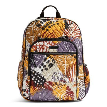 Vera Bradley Campus Tech Backpack Painted Feathers