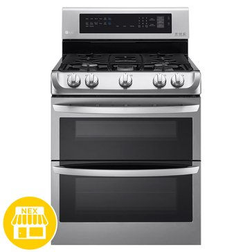 LG 6.9-Cu.Ft. Double Oven Gas Range, Stainless Steel (LDG4313ST)