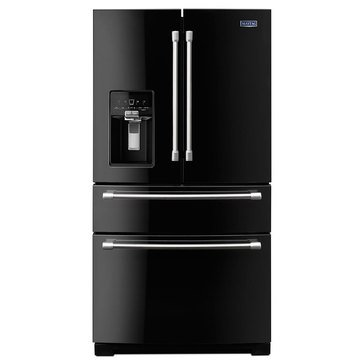 Maytag 26-Cu.Ft. French Door Refrigerator w/ Steel Shelves, Black Ice(MFX2876DRE)