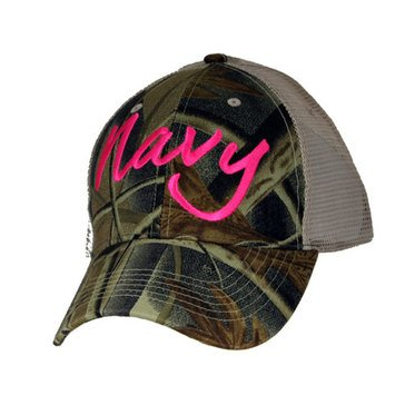 Eagle Crest Women's Navy In Pink On Camo Cap