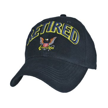 Eagle Crest Arched Retired With Eagle & Anchor Navy Cap